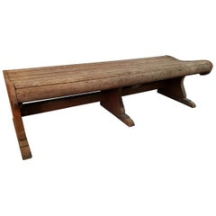 Early 1900s Teak Waiting Bench, from a Station or Zoo