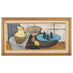 Still Life Framed Painting by Charles Levier Signed