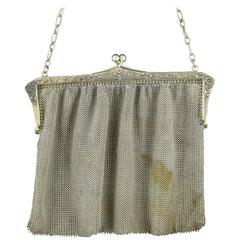 Silber Mesh Tasche, 19. Jahrhundert