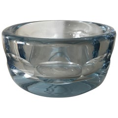 Italian 1960s Handblown Heavy Glass Bowl