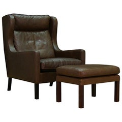 Armchair Danish Design Leather Vintage Retro
