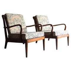 Rare Pair of Robert Heritage Armchairs by George Stone of High Wycombe