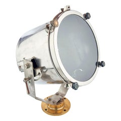Naval 1940s Brushed Steel Search Light