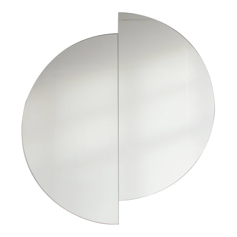 "Luna Orbis Semi Round Mirror Frameless 100cm/39.4"" For Sale"