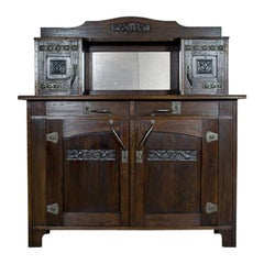 Art Nouveau Oak Cupboard, circa 1910-1920