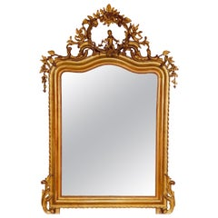 Pair of Original Louis XV Golden Mirrors