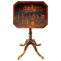Regency Chinoserie Lacquer Lamp Table, circa 1820