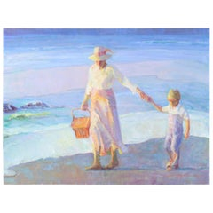 Mother's Joy by Don Hatfield, Original Contemporary American Beach Painting