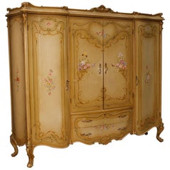 20th Century Lacquered, Painted Wood Venetian Wardrobe, 1950