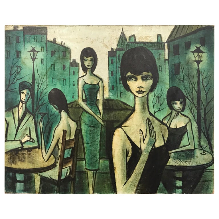 Original Antoine Villard French Signed Oil Painting, 1920s