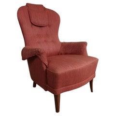 Carl Malmsten Model 'Farmor' Lounge Chair Scandinavian Midcentury