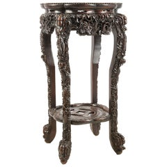 19th Century Chinese Hardwood Stand, 1880