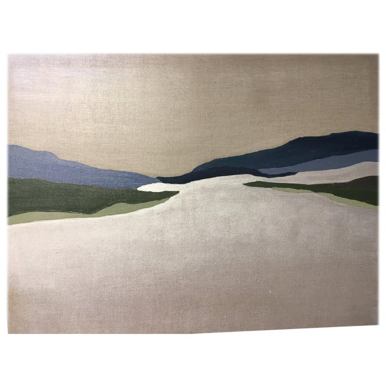 "Abstract Landscape Painting ""Bluestone I"""