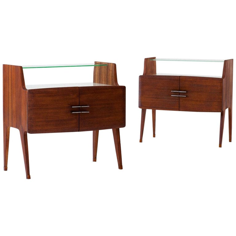 Pair of Italian Bedside Tables, 1950s