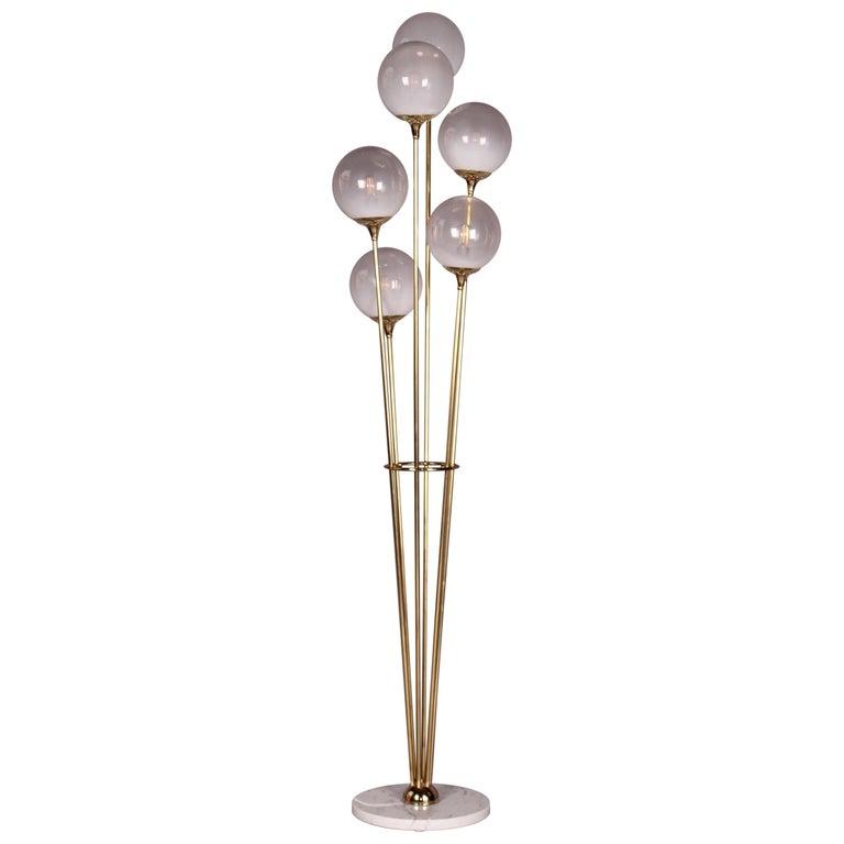 Stilnovo Alberello Floor Lamp Marble Brass Glass
