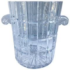 French Cut Crystal Champagne Bucket with Handles