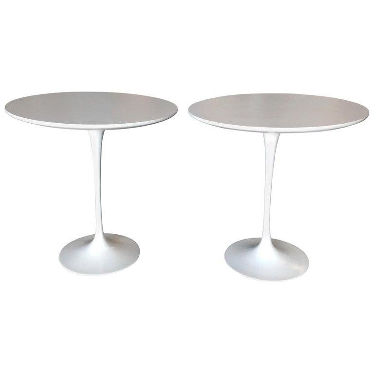 "Eero Saarinen ""Tulip"" Side Table for Knoll, Pair"