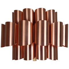 Midcentury Danish Copper Wall Lamp by Werner Schou