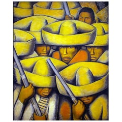 The Revolution, after Spanish Colonial Oil Painting by Diego Rivera