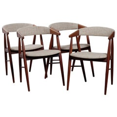 Midcentury Danish Teak Dining Chairs, Set of 4