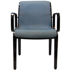 Bill Stephens Black Lacquered Open Armchair for Knoll Furniture, Mid-1990s