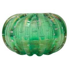 Green Murano Glass Vase