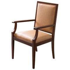Custom Art Deco Style Mahogany Armchair