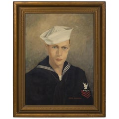 "Acrylic on Canvas ""First Class Petty Officer"" by Helen Mahaffey, circa 1942-1959"