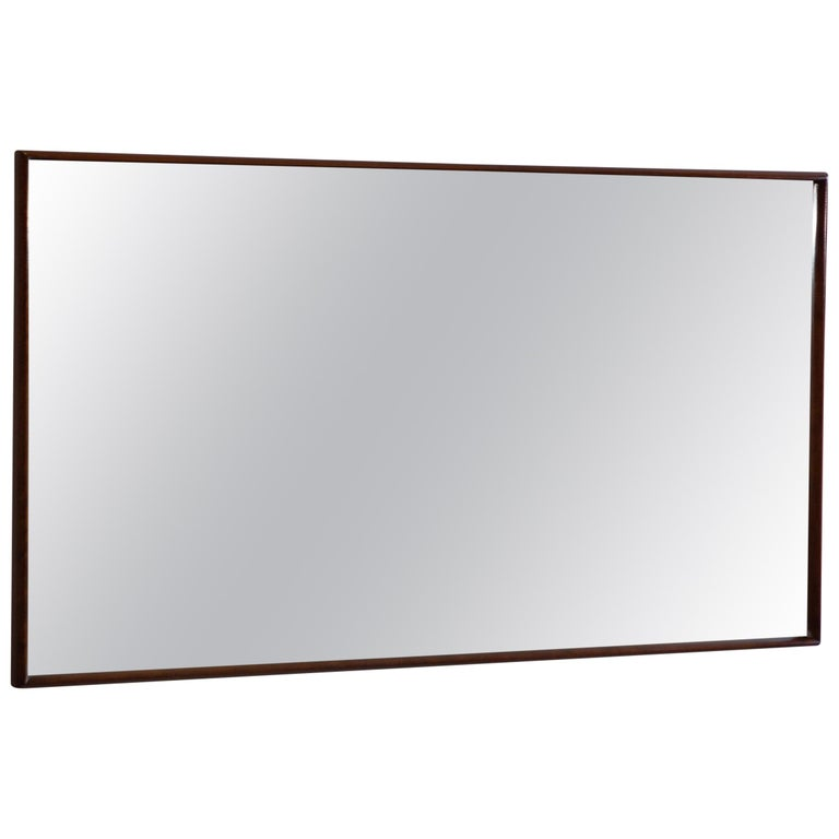 Large Scale Newly Restored T.H. Robsjohn Gibbings Mirror For Sale