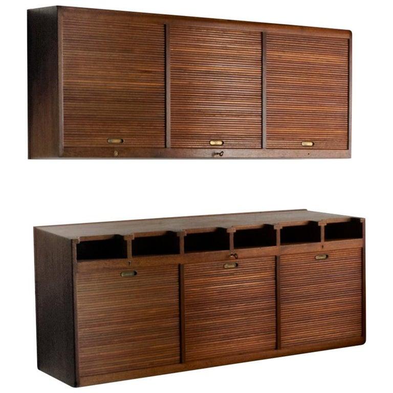 Palle Suenson, Two Part Wall Cabinet For Sale
