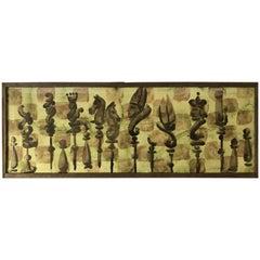 Chess Set Watercolor #3 by Zev Daniel Harris