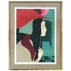 Colorful Lithograph by A. Dalla Corta