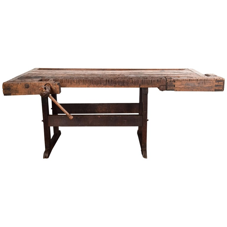 19th Century Hungarian Workbench For Sale