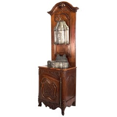 French Beaux-Arts Carved Walnut and Wash Stand, circa 1860