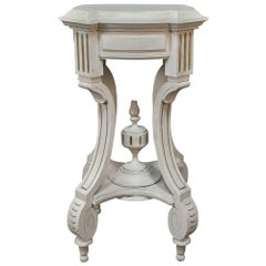 19th Century French Henri II Painted Lamp Table Pedestal
