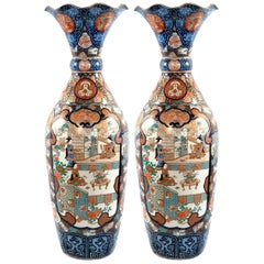 Pair of Monumental Chinese Temple Vases, circa 1880