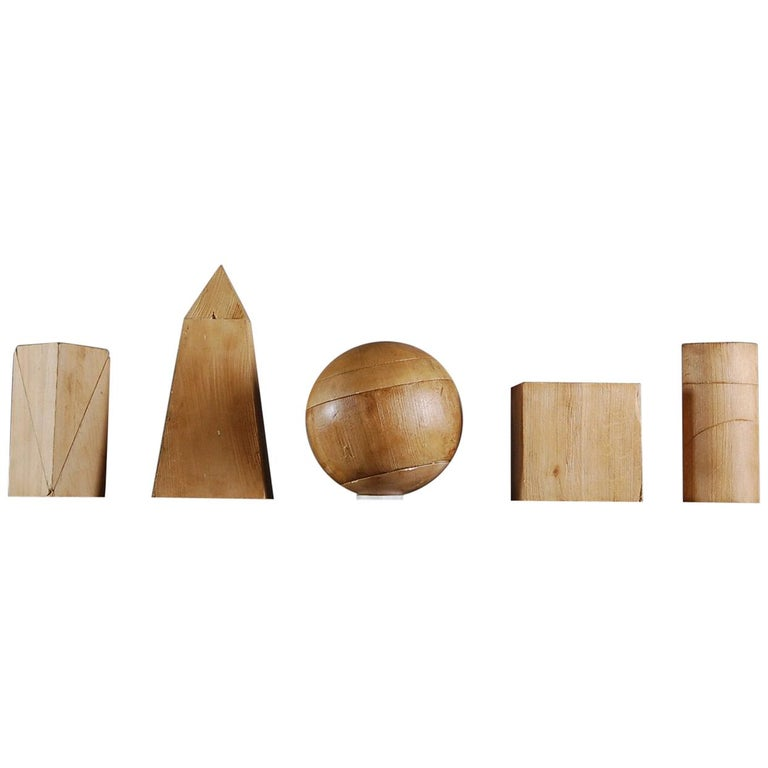 Collection of Artist Geometric Forms For Sale