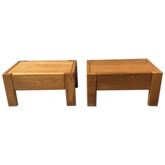Pair of Nightstand by Pierre Chapo