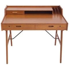 Arne Wahl Iversen Teak Writing Desk, Model 56 for Vinde Mobelfabrik