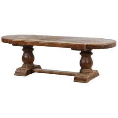 Large French Monastery Table, Massive Oak