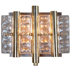 Wall Sconce in Thick Glass, Made by Vitrika, Danish Design