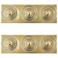 Sciolari 3-Light, Brass Sconces
