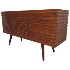 Art Deco Cherry Wood Italian Sideboards, 1950