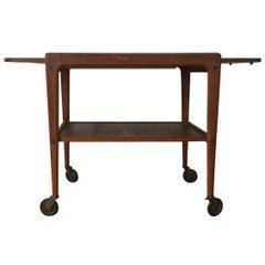 Danish Design, Expandable Bar Cart, Teak Wood