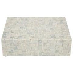 Graphic Pattern Bone Box