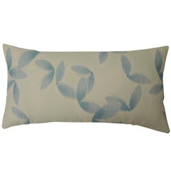 "Asian Blue and White ""Shiso"" Printed Decorative Bolster Pillow"