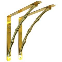 Brass Bamboo Hardware Wall Shelf Brackets