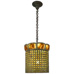 "Tiffany Studios New York ""Turtleback and Chain Mail"" Chandelier"