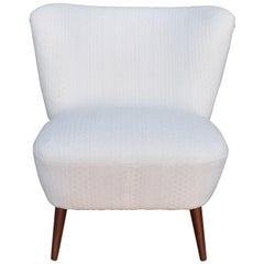 1950 s Cocktail Chair with Knitted Fabric