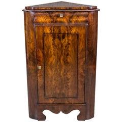 Mahogany Corner Cabinet, circa 1860